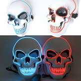 Halloween Horror Party Mask Ghost LED Lighting Glowing Festivals Props EL Cold Light Fluorescent Mask
