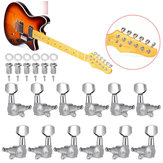 6Pcs/Set Tuning Pegs Keys Locking Tuner Heads 6R 6L for Electric Wooden Guitar Parts