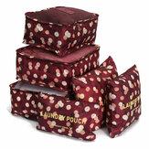 6Pcs Водонепроницаемы Tote Travel Багаж Чехол для хранения одежды Сумка Чехол Упаковка Органайзер