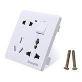250V 16A 86mm Switch Tomada Board 8 Hole Wall Tomada Switch Panel Apropriado para construções internas