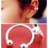 U Shape Crystal Bowknot Bow Ear Cuff No Piercing Earring