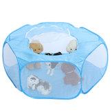 Portátil mascota plegable hexagonal carpa cama cachorro interior al aire libre hogar tipi perrera