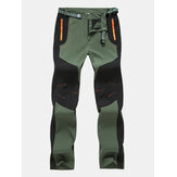 Mens Elastic Wndproof Repellent Wearproof Climbing Pants