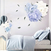 Peony Flower Blossom Wall Sticker Art Nursery Living Bedroom Home Decor Decal Wall Decorations