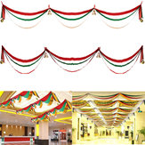 3m Christmas Decorations Wave Flag Ribbons Gift Festival Ceiling Decoration Banner with Balls and Bells