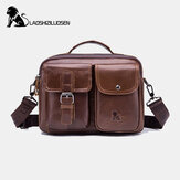 Men Genuine Leather Vintage Business Bag Crossbody Bag