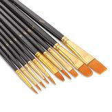 10 قطع فرش الطلاء Nylon فرش الشعر ل أكريليك المائية اللوحة الفنان اللوحة المهنية أطقم رسم القلم