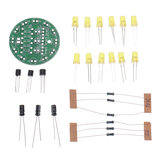 5pcs DIY Yellow LED Round Flash Electronic Production Kit Component Soldering Training Practice Board