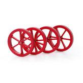 Creality 3D® 4stk. Opgraderet stor størrelse metallisk rød nivelleringsmøtrik til udskrivningsplatform 3D printerdel