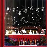 Miico XL803 Adesivo de Natal Decoração de Casa Adesivo Janela e Adesivo de Parede Loja Adesivos Decorativos