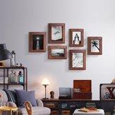 Geometría 1 pieza Marco de fotos de pared Familia Marco de imagen de madera Conjuntos de imagen de escritorio Soporte de foto cuadrado de Xiaomi Youpin