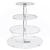 4 Layer Cake Stand Tray Wedding Party Cupcake Display Holder LED String Light Decorations