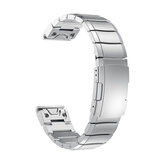 195mm Smart Watch Band Replacement Stainless Steel Strap for Garmin Fenix 5X Watch