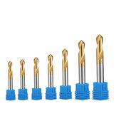 Drillpro 7pcs 2 Flutes 90 Degree 3-12mm Chamfer Drill Bit M35 HSS Cobalt Drill Bit Milling Cutter