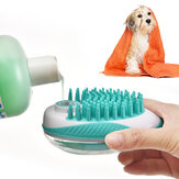 Multifunction Cleaning Comb Cat Soap Rubber Pet Bath Brush Dogs Grooming Tools Shampoo Dispenser From