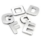40 pcs 3D DIY Alfabeto Metálico & Número adesivos carta Emblema do carro Emblema Decalque