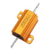 3 pcs RX24 25 W 20R 20RJ Metal Alumínio Caso Resistor De Alta Potência De Metal Dourado Shell Caso Resistor Resistência Do Dissipador