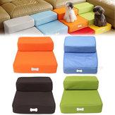 Лестница для домашних животных 2 Step Portable Puppy Собака Кот Soft Внутренний диван-кровать Раскладная лестница для рамп