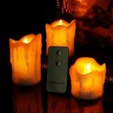 3pcs / set sem chama LED vela elétrica vela luz da noite Controle Remoto para festa de casamento