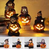 LED Bruxa de Halloween Decoração de festa de abóbora Decoração para casa Lâmpada de mesa para casa