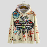 Autumn Character Printing Hooded Casual Sweatshirt