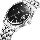 KINGNUOS 1853 Stainless Steel Band Business Men Wrist Watch