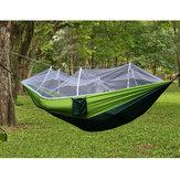 300 kg draagbare dubbele camping hangmat parachute stof met klamboe