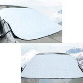 Auto Schneedecke Windschutzscheibe Sonnenschutz Wind Frostschutz w / 3 Magnet Magnetisch