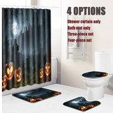 Halloween Duschvorhang Toilette Soft Samt rutschfeste Küchenmatte Typ 7