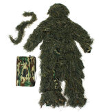 Ghillie Suit Camo 3D Woodland Camouflage Forest Hunting Hide Camping Vêtements 5Pcs Bag