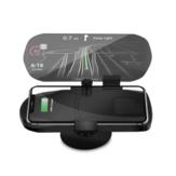 Araba HUD HEAD Up Ekran Hızlı Kablosuz Şarj GPS Navigasyon Ekran Tutucu Şarj