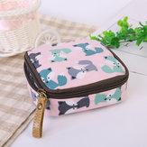 Porte-monnaie cosmétique de sac de stockage cosmétique de serviette hygiénique de tirette imperméable de tissu
