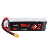 URUAV 11.1V 4200mAh 75C 3S RCレーシングドローン用LipoバッテリーXT60プラグ