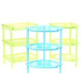 3 niveaux en plastique organisateur de coin salle de bain étagère caddy cuisine support de stockage de bureau