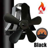 IPRee® 5 Blades Fireplace Fan Thermal Heat Power Stove Fan Wood Burner Fan