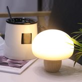 USB Rechargeable Wood Mushroom Night Light Magnetic Silicone Mini Dimmable Timing Patted Bedroom Lamp