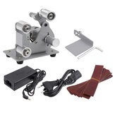 DIY Mini Belt Sander Machine Electric Polisher Automatic Adjustment Elastic Apex Edge Sharpener Machine