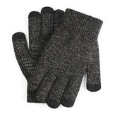Motorcycle Touch Screen Gloves Winter Knit Warm Wool Thicken Velvet Bike Riding Outdoor