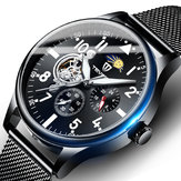 TEVISE T820 Full Metal Case 24 Hour Dial Automatic Mechanical Watch Business Style Men Watch