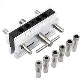 Metrisch / Inch Houtbewerking Zelfcentrerend Perforatorzoeker Boorgeleidingsset Doweling Jig Kit