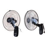 220V 16'' Oscillating Wall Mounted Fan Home Cooling Fan Timer 3 Gears Adjustable