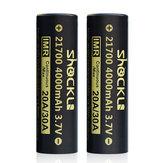 ShockLi 21700 4000mAh Flat Top High Drain 20A 3.7V Li-ion Rechargeable Batterie - 2PCS + Batterie Case
