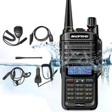 Original              6 in 1 BAOFENG UV-9R Plus 10W VHF UHF Walkie Talkie Dual Band Two Way Radio US Plug with Speaker MIC & Earphone & Programming Cable & 48cm Antennas