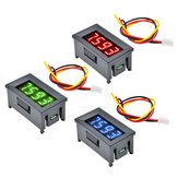Mini 0.36 Inch Digital LED Pantalla 4 Bits DC 0V-100V Voltímetro Medidor Tester 3 Cables Medidor de Voltaje Panel Tester Rojo / Azul / Verde