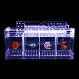 Acrylique Transparent Betta Fish Tank Mini Desktop Aquarium Filtre Élevage Boîte A
