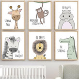 Cute Animal Home Decorations Room Canvas Print Picture Wall Art Painting Regalo de Navidad
