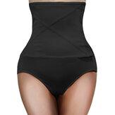 Plus Size cintura alta controle barriga moldar calcinha