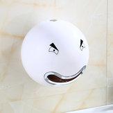 Wall Mounted Cute Cartoon Face Bathroom Toilet Paper Tissue Box Roll Holder