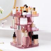 Verstelbare 360 ° roterende make-up sieradendoos Vierkant opbergrek Organisator Stand Display