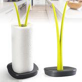 Modern szövettartó WC-papírtekercs tároló állvány Fürdőszoba asztali papír konyhai függesztőállvány